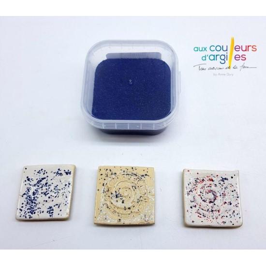 Granulés décors bleus