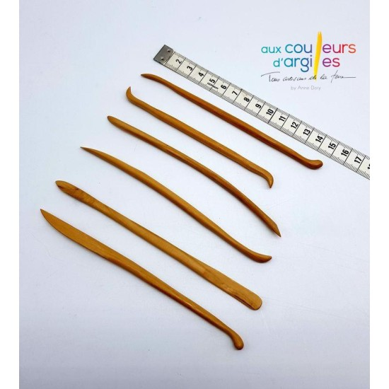 Set 6 mini outils bois 12cm