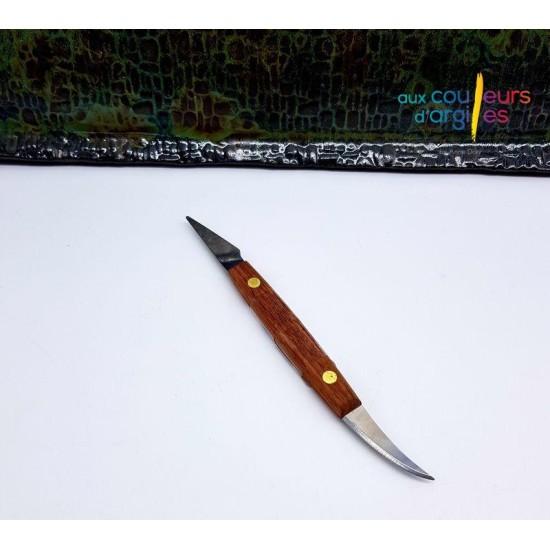 Couteau potier deux lames