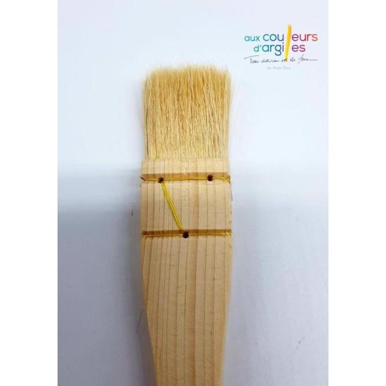 Pinceau plat 30 mm en poils...