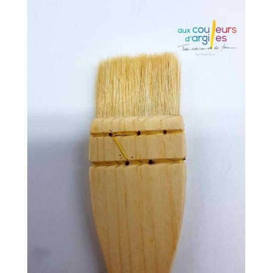 Pinceau plat 40 mm en poils...