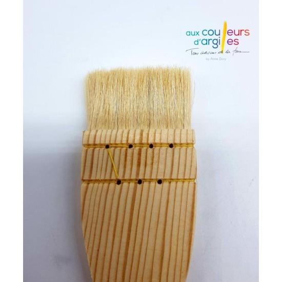 Pinceau plat 60 mm en poils...