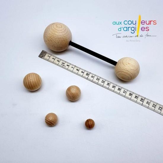 Kit d'estampage boules en bois