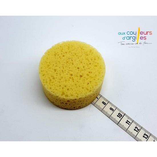 Eponge ronde jaune 70mm /30mm