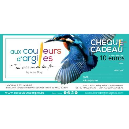 Cheque cadeau valeur 10 euros