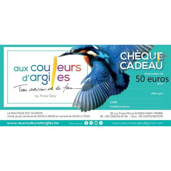 Cheque cadeau valeur 50 euros